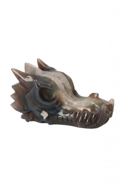 Chloriet fantoom geode drakenschedel, agaat geode, bergkristal, agaat geode kristallen draak, crystal skull draak, crystal skull dragon, kristallen geode draak, geode draak, draak geode, kopen, bestellen,, happy spirit, elven draak, agaat geode drakenschedel, geode draken skull, geode draken schedel