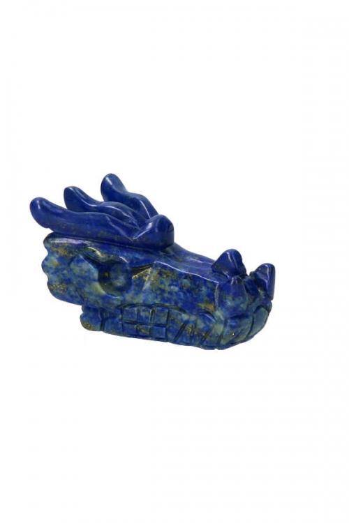 lapis lazuli kristallen drakenschedel, lapis draakje, lapis lazule crystal dragon skull, drakenschedel, kopen