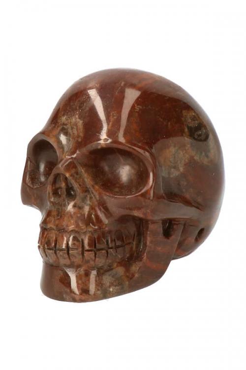 Drakenbloedsteen realistische kristallen schedel, Drakensteen kristallen schedel drakenhoeder, crystal skull, hoofd, edelstenen, kopen, dragon stone, drakenbloedsteen, bastiet