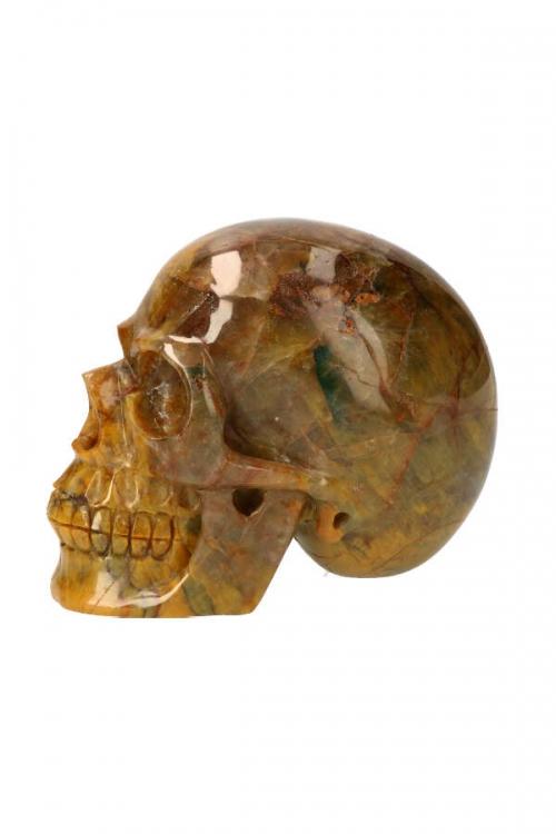 Groene Agaat realistische kristallen schedel, GROENE AGAAT CRYSTAL SKULL, GREEN AGATE, KOPEN