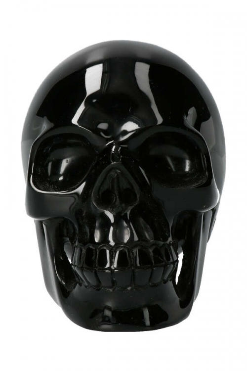 Obsidiaan grote realistische kristallen schedel, 17.5 cm, 3.25 kilo, realistische obsidiaan kristallen schedel, obsidiaan realistische kristallen schedel, obsidian skull, crystal skull, kopen, arnhem, happy spirit, grote obsidiaan kristallen schedel