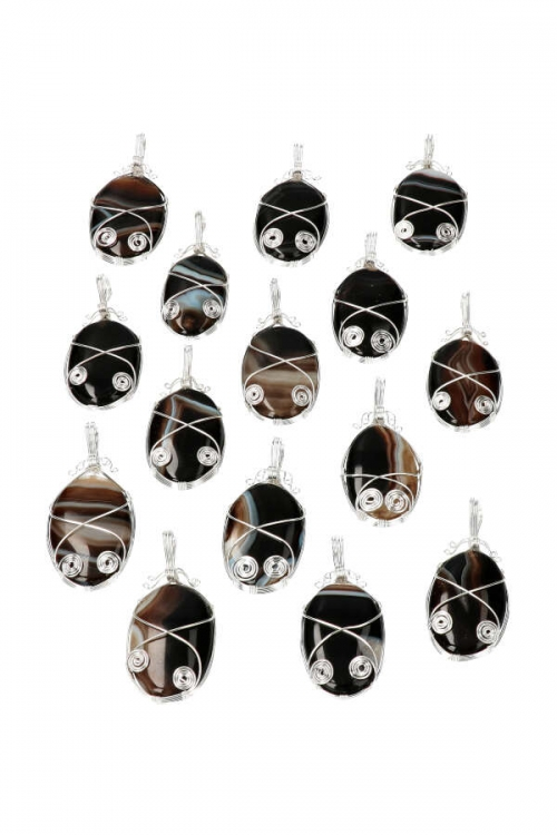 suleiman steen hanger, suleyman, indonesie, draad hanger, pendant, kopen,