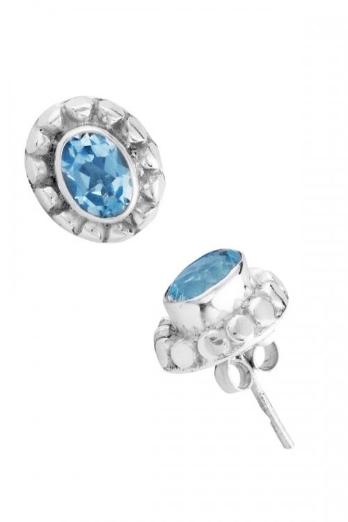 Aquamarijn oorstekers (925 sterling zilver), 5 x 7 mm, aquamarine earstuds, oorknopjes, oorknop, oorbellen, kopen, edelsteen oorbellen, edelstenen oorbellen