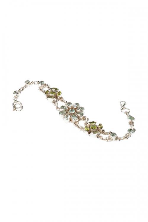 Aquamarijn met Peridoot armband zilver, aquamarine bracelet, peridote, kopen, zilveren armband, edelstenen, aquamarijn met zilver