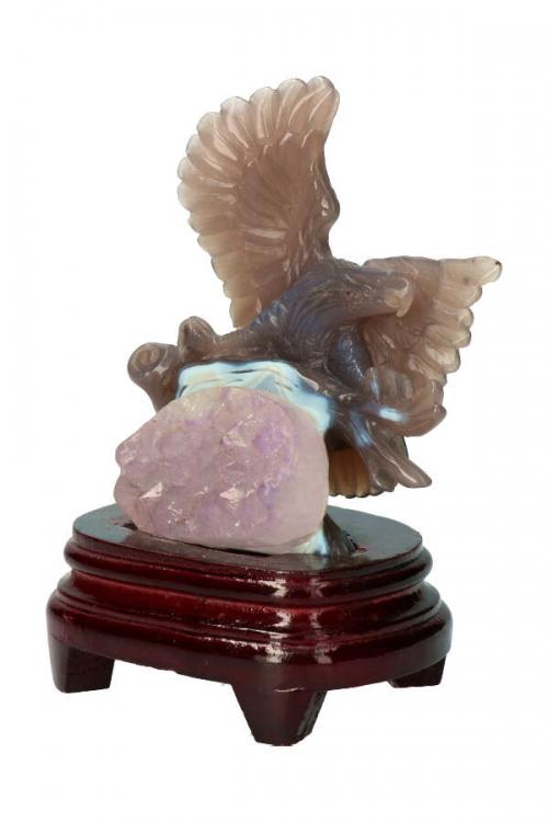edelstenen adelaar amethist en agaat, amethist geode adelaar, stenen adelaar, gemstone eagle