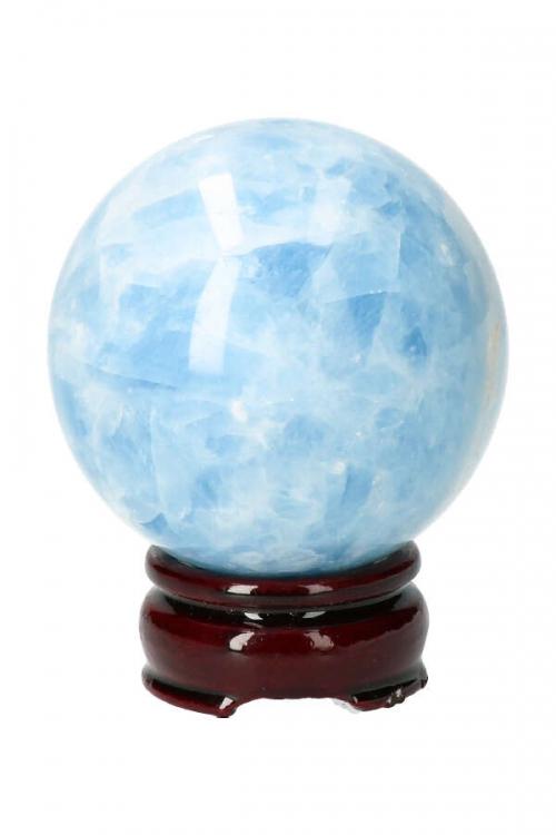 Blauwe Calciet bol, blue calcite sphere, edelsteen bol, edelstenen, kopen, arnhem