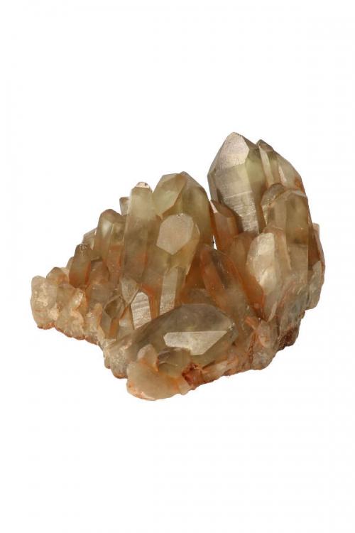 Citrien met Rookkwarts cluster, dubbelpunt, Citrien cluster, citrien groepje, citrine cluster, citrien ruw, natuur citrien, kopen, mineraal, mineralen, specimen