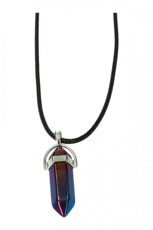 Titanium regenboog kwarts hanger ook wel regenboog aura genoemd