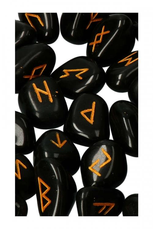 25 delig, rune set, heksen, voorspellen, rune, waarzeggen, edelsteen, edelstenen, stenen rune, Runen set zwarte Agaat