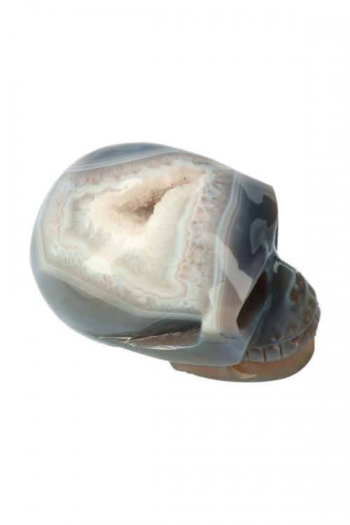 agaat geode schedel, agaat geode kristallen schedel, agate crystal skull, kopen, schadel