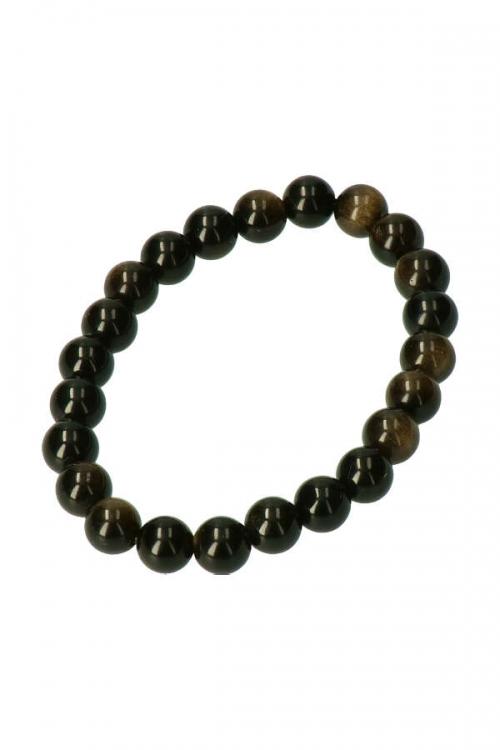 Goud Obsidiaan armband, 8 MM, powerbead armband, edelsteen armband, edelstenen armband, gold obsidian, obsidiaan armband, kopen, arnhem, happy spirit