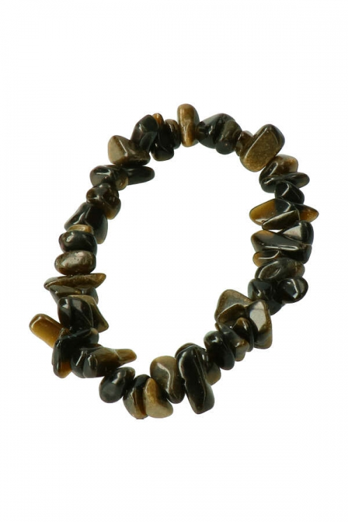 Goud Obsidiaan splitarmband, gold obsidian chips bracelet, edelsteen armband, kleine steentjes, obsidiaan, kopen