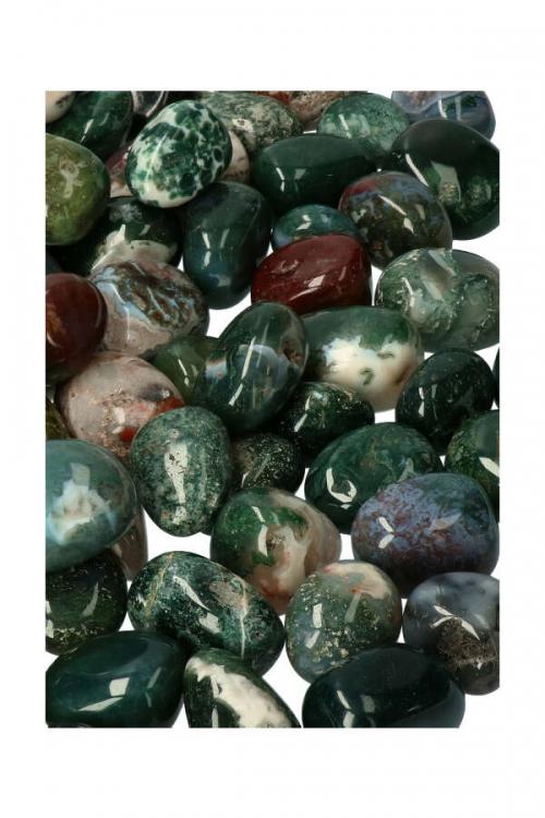 mosagaat trommelstenen, mosagaat stenen, mos, agaat, kopen, knuffelsteen, gepolijst, india, moss agate stone, kopen, stenen