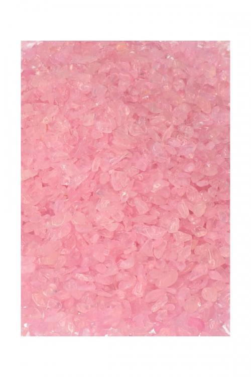 Rozenkwarts chips, trommelstenen, mini stenen, gravel, kleine rozenkwarts steentjes, kopen