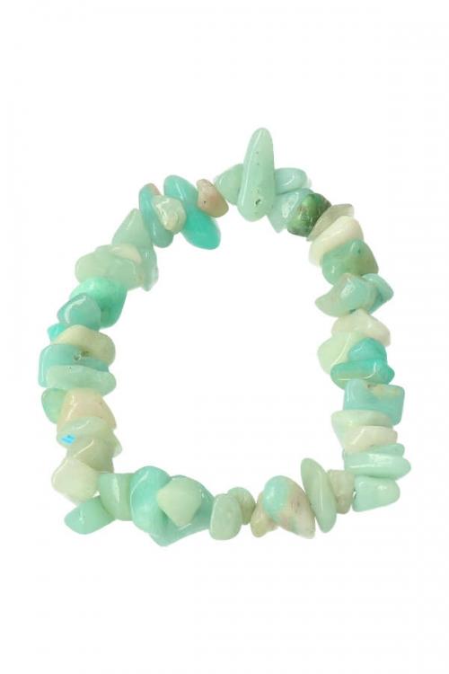 Amazoniet splitarmband, 18 cm, amazonite chips bracelet, edelsteen armband, edelstenen, sieraad, sieraden, kopen
