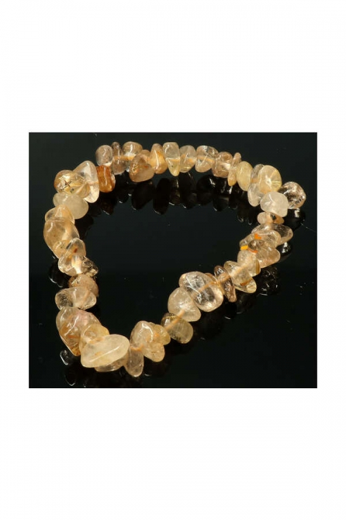 Goud Rutiel splitarmband, 18 cm, gold rutile chips bracelet, kopen, edelsteen armband, edelstenen, sieraden