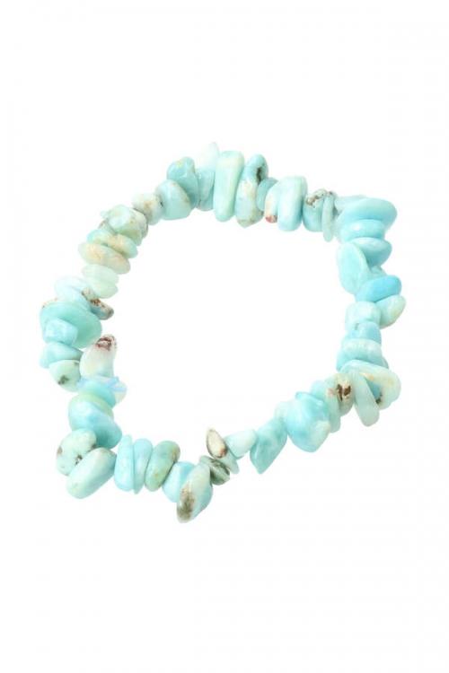 Larimar splitarmband, 18 cm, larimar bracelet, kopen, splitarmband, chips, edelsteen armband, edelstenen armband, sieraad, dominicaanse republiek