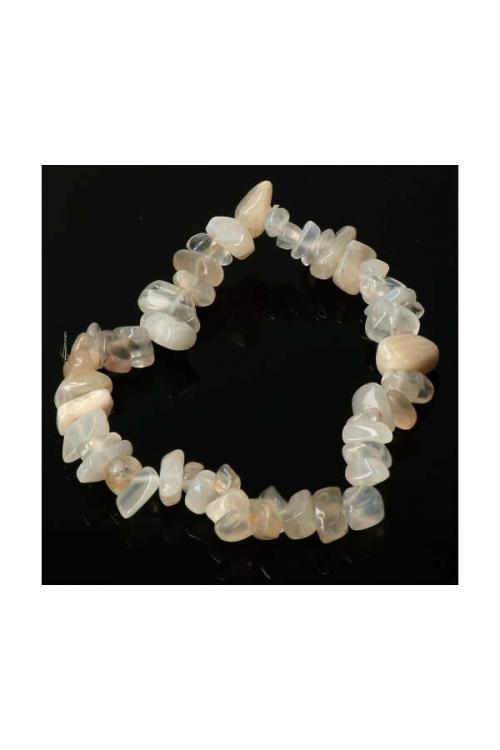 maansteen splitarmband, 18 cm, kopen, edelsteen armband, moonstone chips bracelet, edelstenen