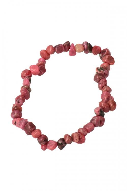 Rhodoniet splitarmband, 18 cm, rhodonite chipsbracelet, edelsteen, edelstenen, sieraad, kopen